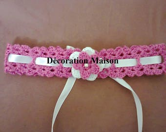 bandanat filletes pink and white crochet