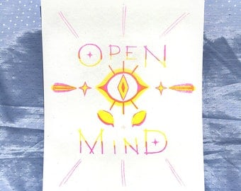 Open Mind Riso Print