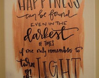 Albus Dumbledore Quote Canvas