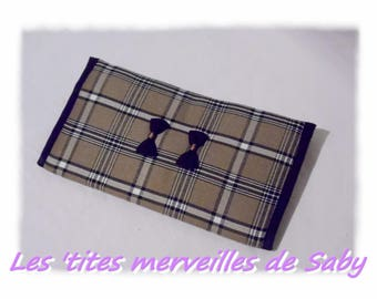 a wallet for women Brown Plaid 4 in 1