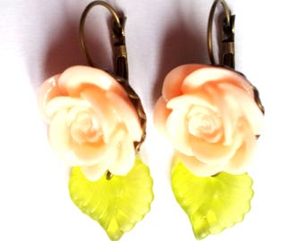 """Earrings """"Roses and Leaves"""" roses and leaves"""