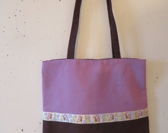 tot bag double Brown and purple
