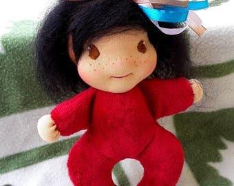 Waldorf type doll, Eva