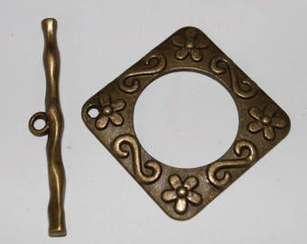 toggle clasp, copper, 54 * 9 * 37 mm