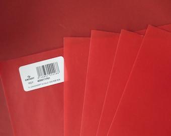 5 feuilles A4 calque rouge Canson 100g/m2