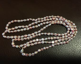 Freshwater Pearls, dyed light pink.