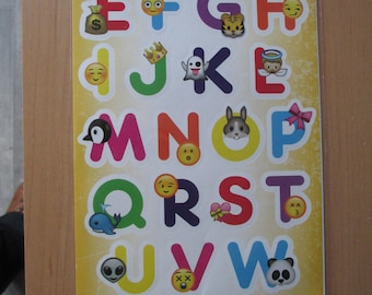 Board sticker letters alphabet smile smile