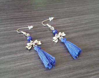 BO bow blue tassel