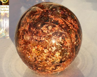 Copper Wire Orgonite:  Crystal Ball - alternative/ complementary therapy - Positive Energy - promotes plant health!