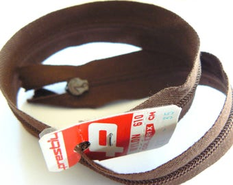 Brown 35cm zipper Prestil nylon No. 20 50-70 years