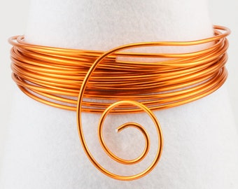 Aluminum wire 4 mm x 2 m - saffron Orange - Ref 24232-021