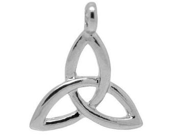 10 pendants charms triangle knot of Sidhe sign 23x20mm within 15 days