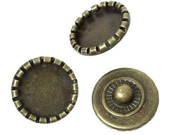 10 buttons pressure pr Bracelet DIY round 15mm Dia