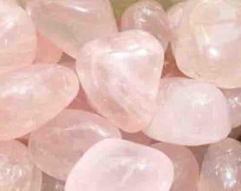 3/4 cm 1 wrapped Quartz stone rose for your jewelry gemstones