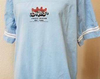 90s JNCO oversized baby blue shirt