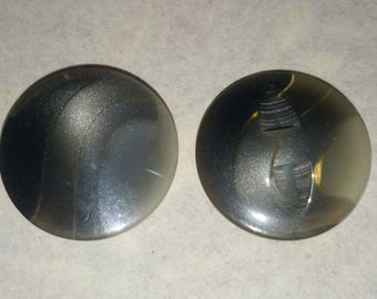 LARGE buttons 23 mm VINTAGE black grey gradient
