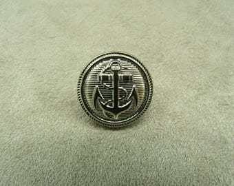 Military anchor buttons silver 16 mm