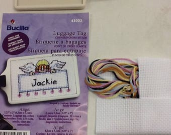 Kit label has luggage embroidery cross stitch