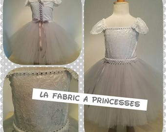 Ceremony, baptism, lace and tulle dress