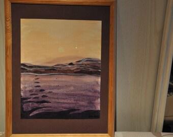 """Painting """"sunrise over the desert"""""""