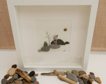 Pebble/Stone Art - 'New Home'