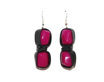 Earrings with recycled tractor inner