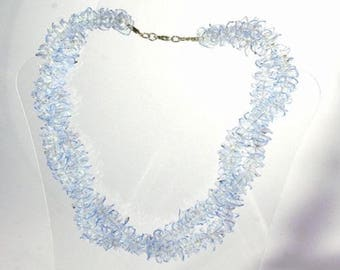 CRYSTAL necklace, recycled plastic, handmade