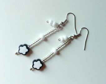 handmade earrings with pearls and beads/earrings