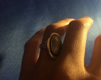 Vintage Sterling Silver Abalone Shell Ring