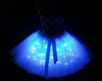 Turquoise LED tutu/ Bridal party tutu/ Children to adult Tutu costumes/ Light up tulle skirts (33 colors available)