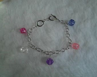 Bracelet dice beads multicolor