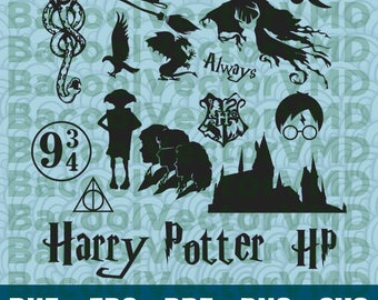 Harry Potter SVG Pack - Harry Potter Clipart - Harry Potter Cut Files - SVG Files For Silhouette - Files For Cricut - Cuttable design