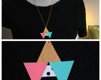 Gold and pastel Bunting necklace