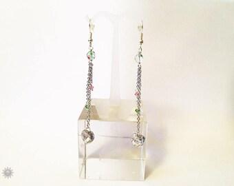 Multicolor swarovski crystal earring