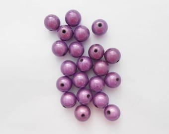 Magic pearl purple 12 mm 3D effect. (9148724)