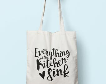 Everything But The Kitchen Sink Tote Bag Long Handles TB0002