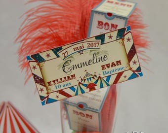 """Place card """"Circus ticket"""""""