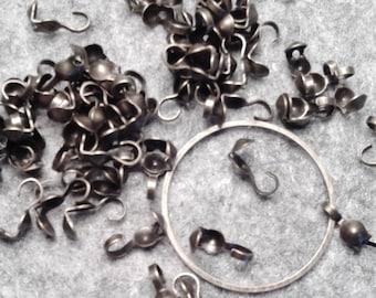 Set of 5 g of nodes in metal bronze.