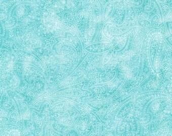 plain blue Paisley faux patchwork 12011995 fabric