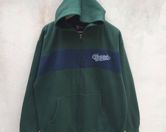 Rare! Vintage Chaps Ralph Lauren Hoodie Sweatshirt Embroidered Logo Jumper Pullover 90s Rare Item