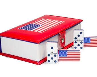 USA Domino 100% Acrylic, Faux Leather Case