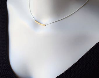 Silver Choker Necklace,Dainty Choker Necklace,Bar Choker,Dainty Necklace,Minimalist Choker Necklace,Silver Jewelry,Simple Modern Necklace