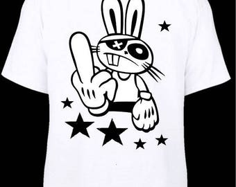 """a little humor this joint t-shirt printed """"Bunny"""" print on the back"""