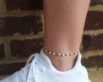 Cream Dream Anklet