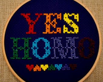 Yes Homo Cross Stitch
