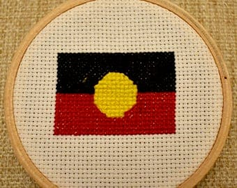 Aboriginal Flag Cross Stitch