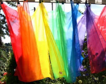 Chiffon scarf - Chorschal - color picker - 2 stripe scarf