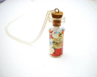 summer Chinese glass vial necklace