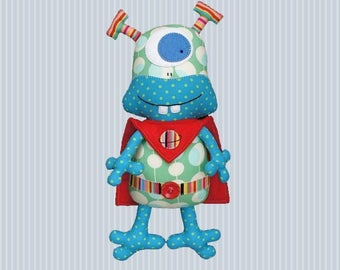 Design - stuffed alien - sewing pattern Melly and Me