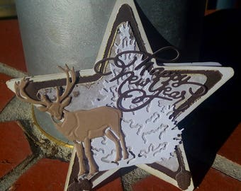 Card scrappee star shape